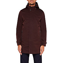 Buy Ted Baker Stack Mac Coat, Dark Red Online at johnlewis.com