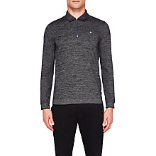 Buy Ted Baker Frannk Textured Jersey Polo Shirt, Black Online at johnlewis.com