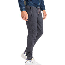 Buy Tommy Jeans Basic Fleece Joggers, Black Iris Online at johnlewis.com