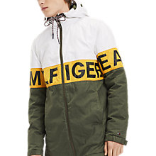 Buy Tommy Jeans Logo Jacket, Thyme/White Online at johnlewis.com