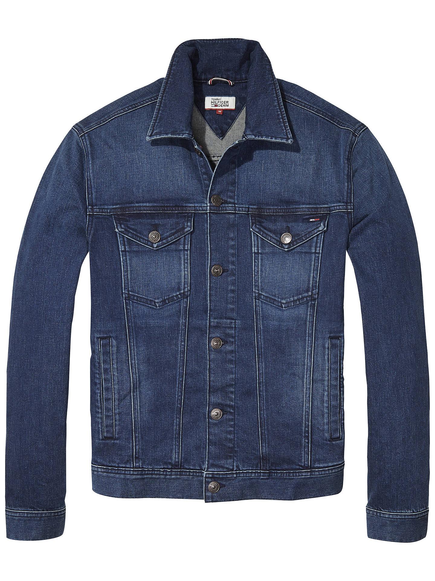 1f92e772 Buy Tommy Jeans Denim Trucker Jacket, Oak Mid Blue, S Online at johnlewis.