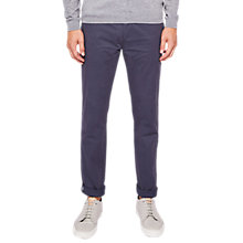 Buy Ted Baker Tarprin Tapered Fit Chinos, Mid Blue Online at johnlewis.com
