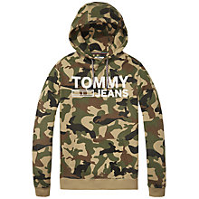 Buy Tommy Jeans Camo Hooded Sweatshirt, Camo Online at johnlewis.com