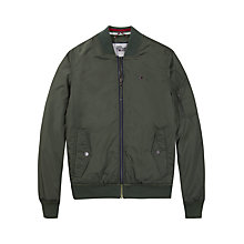 Buy Tommy Jeans Straight Padded Bomber Jacket, Thyme Online at johnlewis.com