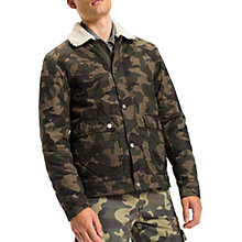 Buy Tommy Jeans Camo Sherpa Jacket, Green Online at johnlewis.com