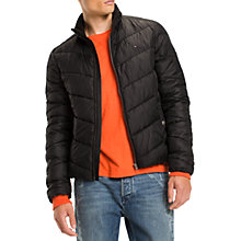 Buy Tommy Jeans Quilted Long Sleeve Jacket, Black Online at johnlewis.com