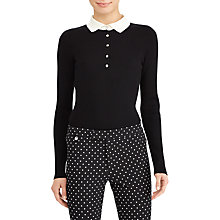 Buy Lauren Ralph Lauren Elvira Jumper, Polo Black/Mascarpone Cream Online at johnlewis.com