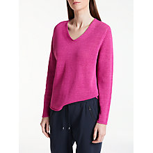Buy Gerry Weber Long Sleeve Cotton Linen Jumper, Peony Online at johnlewis.com