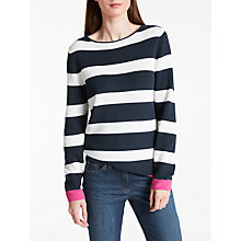 Buy Gerry Weber Bold Stripe Jumper, Blue/Ecru Online at johnlewis.com