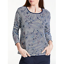 Buy Gerry Weber Print Stripe Jumper, Blue/Ecru Online at johnlewis.com
