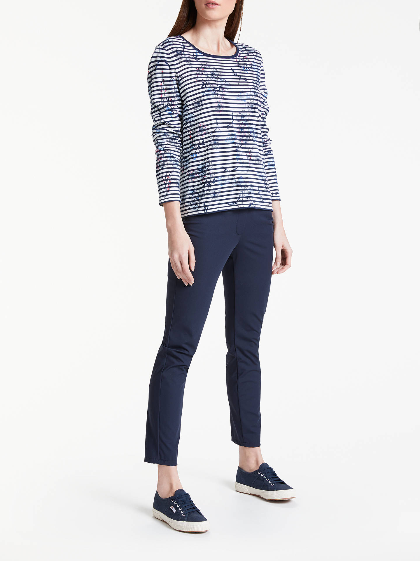 BuyGerry Weber Print Stripe Jumper, Blue/Ecru, 12 Online at johnlewis.com