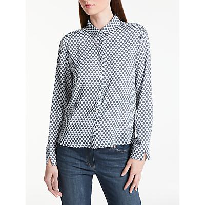 Gerry Weber Spot Print Shirt, White/Navy