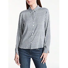 Buy Gerry Weber Spot Print Shirt, White/Navy Online at johnlewis.com