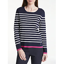 Buy Gerry Weber Long Sleeve Stripe Jumper, Multi Online at johnlewis.com