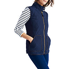 Buy Joules Braemar Quilted Gilet, Marine Navy Online at johnlewis.com