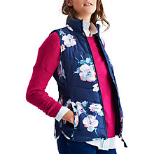 Buy Joules Highgrove Padded Printed Gilet, Navy Poppy Online at johnlewis.com