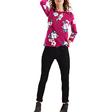 Buy Joules Harbour 3/4 Sleeve Printed Jersey Top, Ruby Poppy Online at johnlewis.com