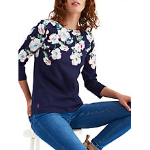 Buy Joules Harbour 3/4 Sleeve Printed Jersey Top, Navy Poppy Online at johnlewis.com