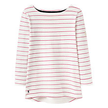 Buy Joules Harbour 3/4 Sleeve Printed Jersey Top, Pink Spot Online at johnlewis.com