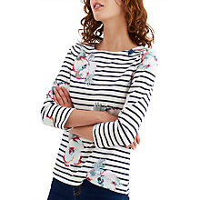 Buy Joules Harbour 3/4 Sleeve Printed Jersey Top, Cream Poppy Online at johnlewis.com