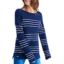 Buy Joules Rowena Stripe Jumper, French Navy Online at johnlewis.com