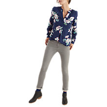 Buy Joules Rosamund Printed Blouse, Navy Poppy Online at johnlewis.com