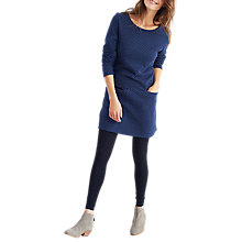 Buy Joules Roya Jersey Jacquard Tunic Dress, French Navy Online at johnlewis.com