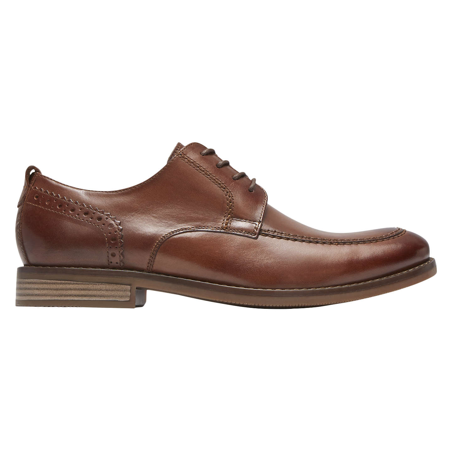BuyRockport Wynstin Derby Shoes, Brown, 7 Online at johnlewis.com ...