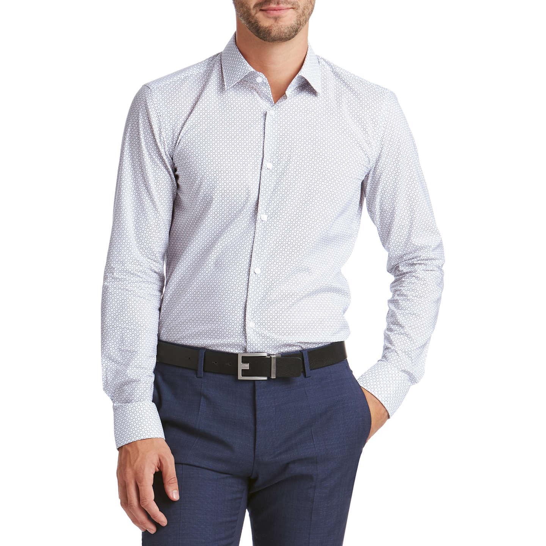 BuyHUGO by Hugo Boss C-Jenno Geo Print Slim Fit Shirt, White/Navy ...