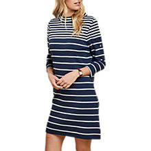 Buy Barbour Seaburn Stripe Dress, Navy/Light Grey Marl Online at johnlewis.com