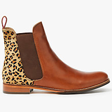 Buy Joules Westbourne Leather Chelsea Boots, Leopard Online at johnlewis.com