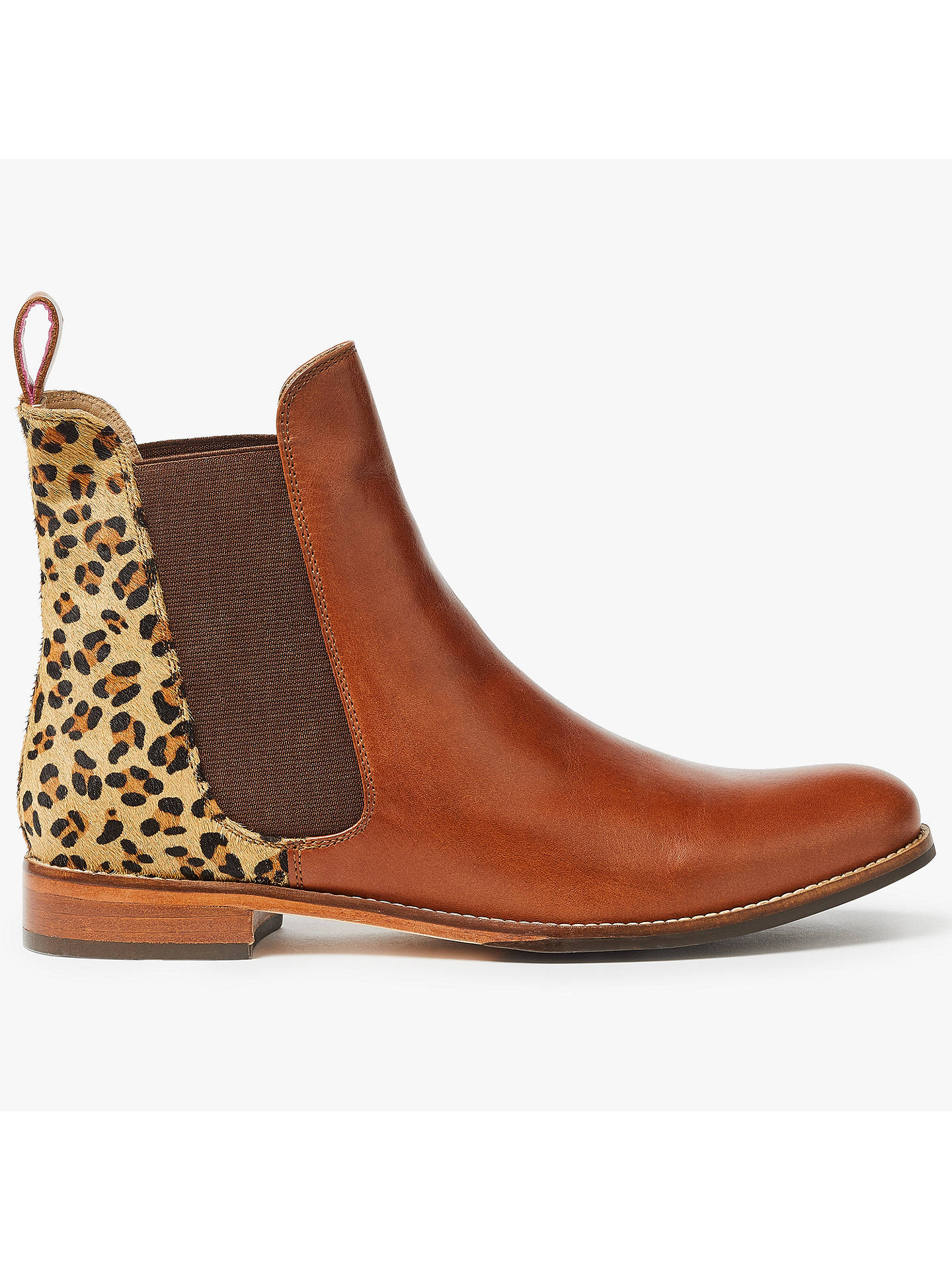 520538748 Buy Joules Westbourne Leather Chelsea Boots, Leopard, 3 Online at  johnlewis.com ...