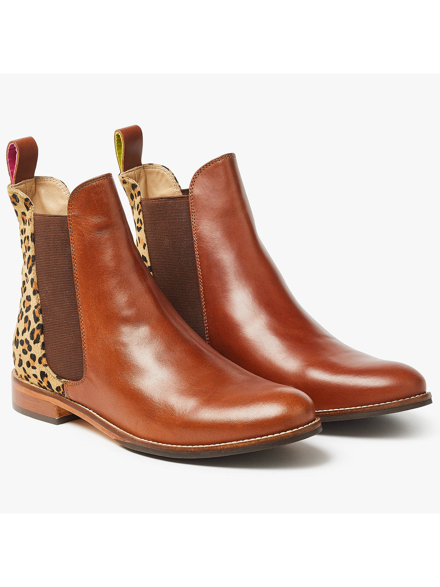 Westbourne LEOPARD Chelsea Boot   Joules UK