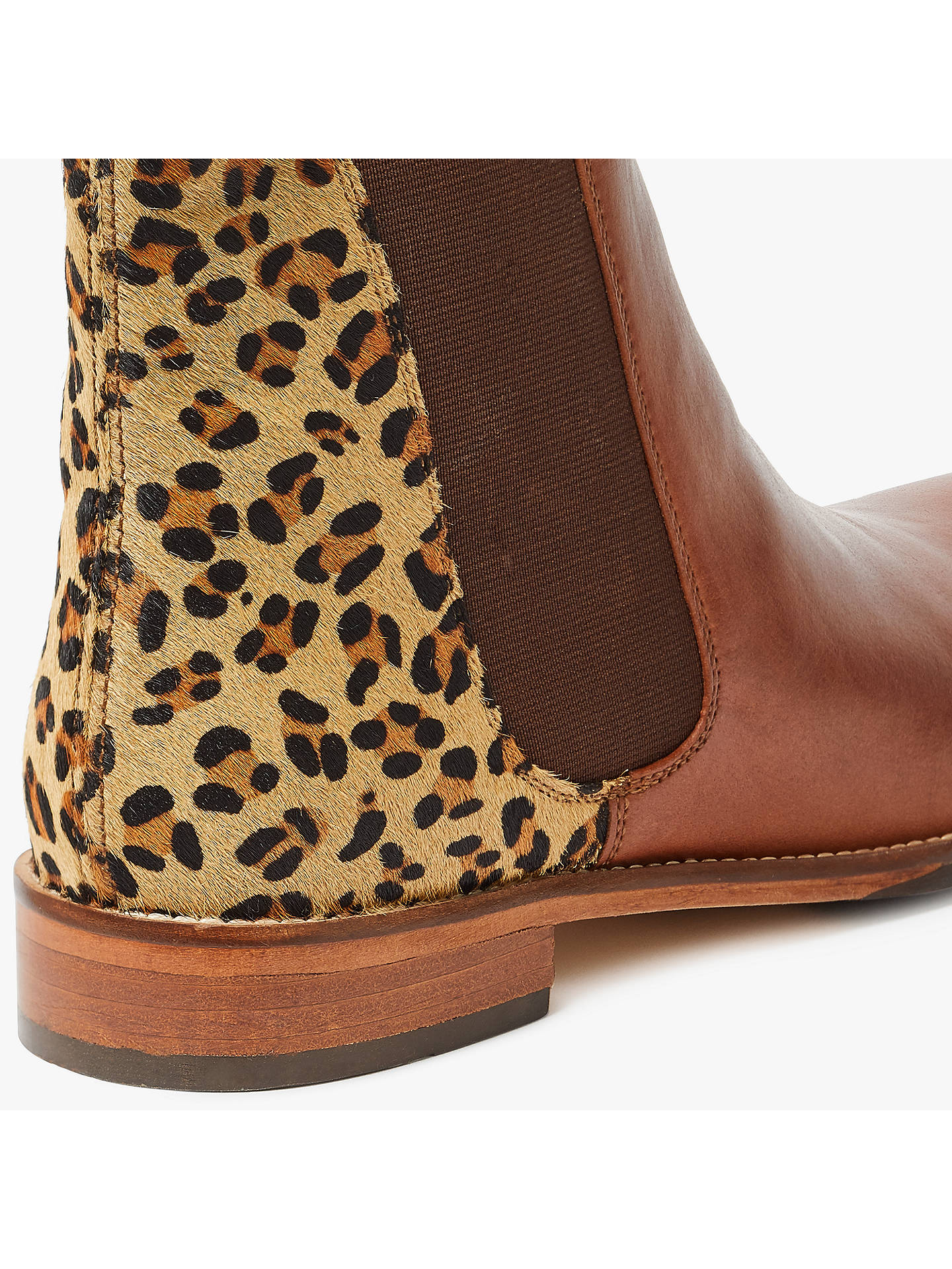 7f4cb314f ... Buy Joules Westbourne Leather Chelsea Boots, Leopard, 3 Online at  johnlewis.com ...