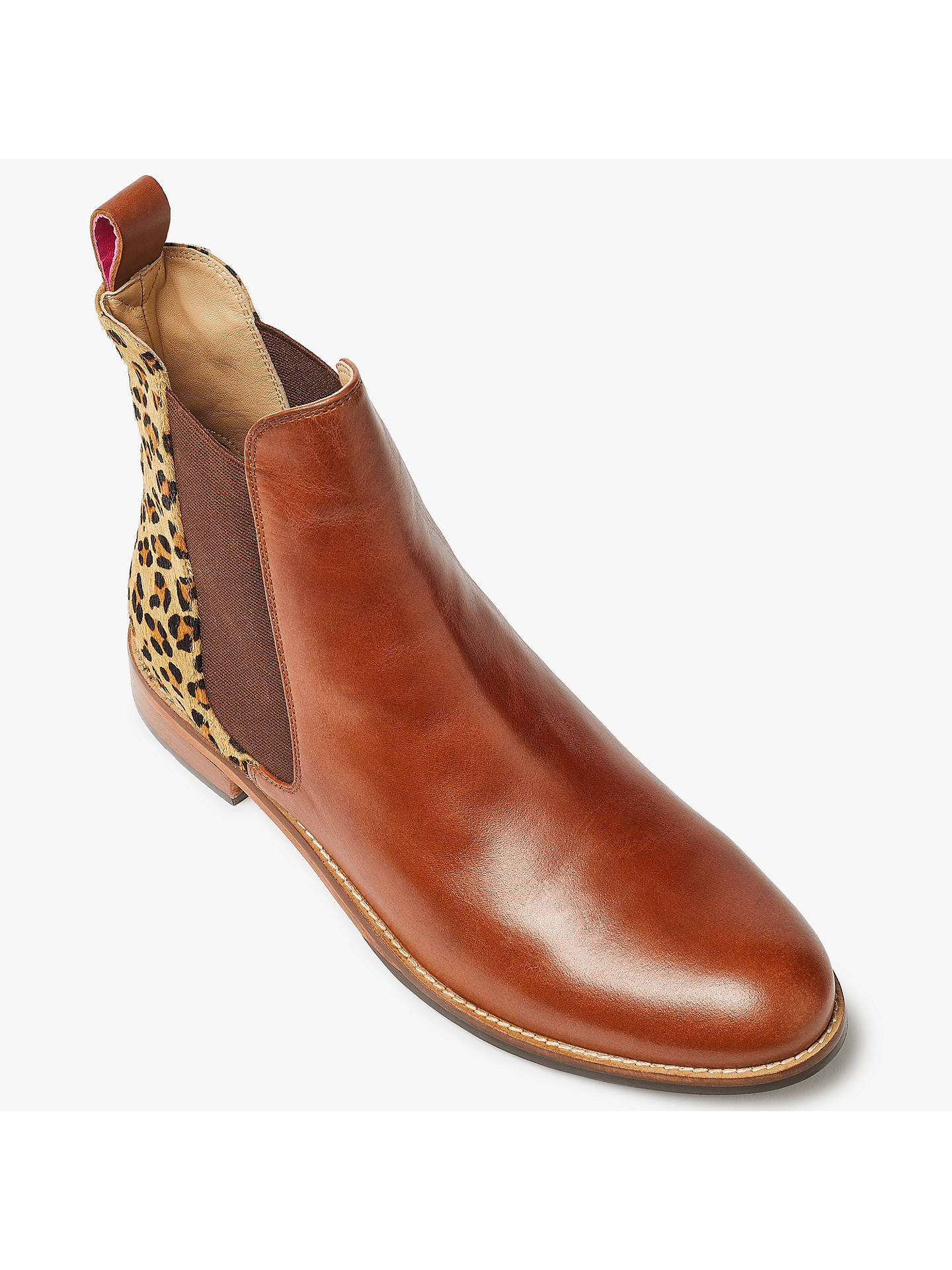 57e58a8a5 ... Buy Joules Westbourne Leather Chelsea Boots, Leopard, 3 Online at  johnlewis.com