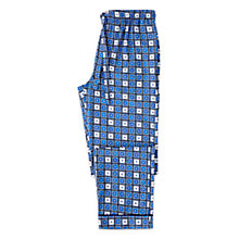 Buy Otis Batterbee Square Cravat Cotton Pyjama Bottoms, Blue Online at johnlewis.com