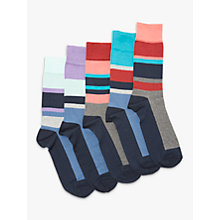 Buy John Lewis Sport Stripe Socks, Pack of 5, Multi Online at johnlewis.com