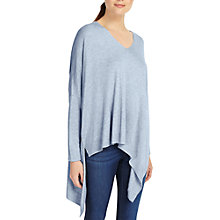 Buy Phase Eight Abaranne Asymmetric Hem Knitted Jumper, Soft Blue Online at johnlewis.com