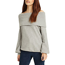 Buy Phase Eight Bernita Bardot Knit Jumper, Grey Marl Online at johnlewis.com