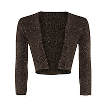 Buy Phase Eight Shimmer Salma Knit Jacket, Dark Gunmetal Online at johnlewis.com