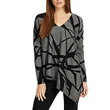 Buy Phase Eight Selene Print Knit Jumper, Charcoal Online at johnlewis.com