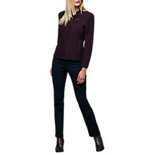 Buy East Wool Biker Jacket, Aubergine Online at johnlewis.com