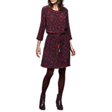 Buy East Silk Alicia Print Dress, Aubergine Online at johnlewis.com