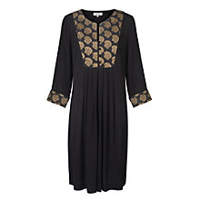 Buy East Jacquard Paisley Dress, Black Online at johnlewis.com