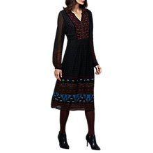 Buy East Marina Print Dress, Black Online at johnlewis.com