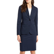 Buy Jaeger Windowpane Tailored Jacket, Navy Online at johnlewis.com