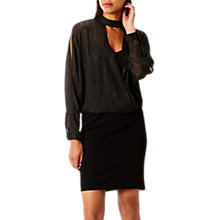 Buy Coast Elise Shimmer Dress, Black Online at johnlewis.com