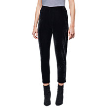 Buy East Velvet Jersey Slim Trousers, Black Online at johnlewis.com