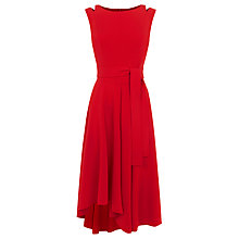 Buy Karen Millen Tie Belt Fluid Midi Dress, Red Online at johnlewis.com