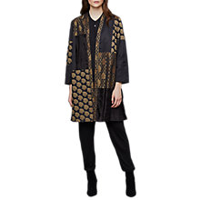 Buy East Jacquard Patchwork Print Kimono, Black Online at johnlewis.com
